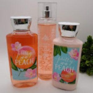 FULL SIZE Pretty as a Peach Gift Set by B&BW